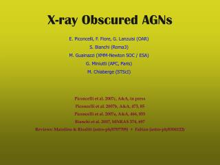 X-ray Obscured AGNs