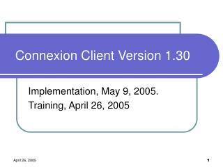 Connexion Client Version 1.30