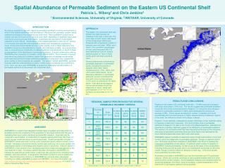Spatial Abundance of Permeable Sediment on the Eastern US Continental Shelf