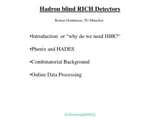 Hadron blind RICH Detectors