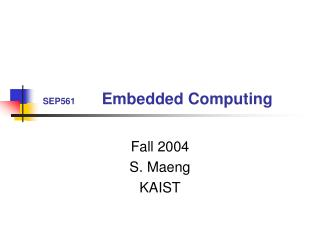 SEP561 Embedded Computing
