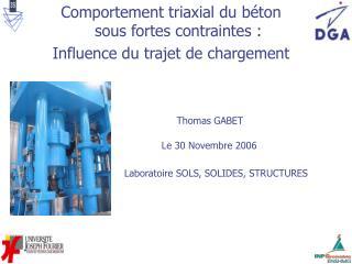 Comportement triaxial du b ton sous fortes contraintes : Influence du trajet de chargement