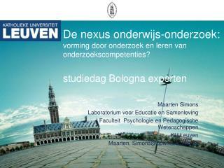 -  Maarten Simons Laboratorium voor Educatie en Samenleving
