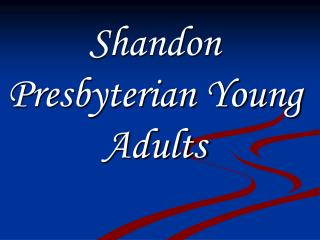 Shandon Presbyterian Young Adults