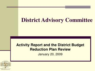 District Advisory Committee