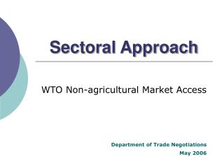 Sectoral Approach
