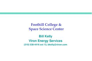 Foothill College & Space Science Center