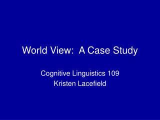 World View:  A Case Study