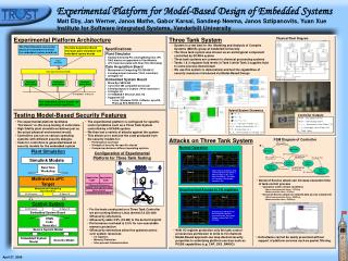 Experimental Platform for Model-Based Design of Embedded Systems