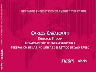 Carlos Cavalcanti Director  Titular Departamento de  Infraestructura