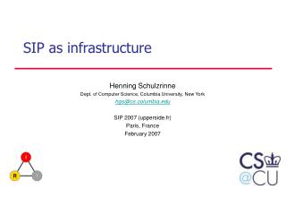 SIP as infrastructure