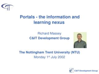 Portals - the information and learning nexus