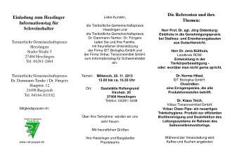 Termin:     Mittwoch, 20. 11. 2013 13.00 bis ca. 16.30 Uhr