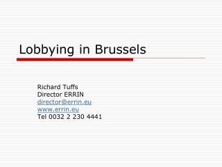 Lobbying in Brussels