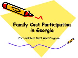 Family Cost Participation  in Georgia