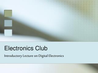 Electronics Club
