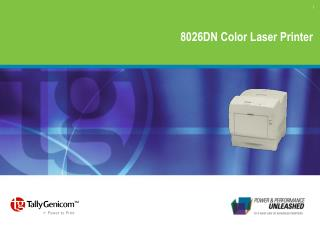 8026DN Color Laser Printer
