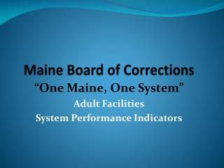 Maine Board of Corrections
