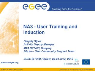 NA3 - User Training and Induction
