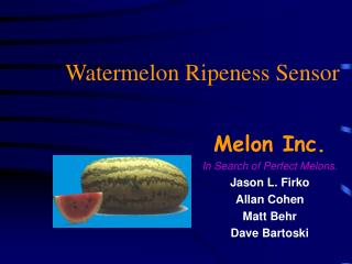 Watermelon Ripeness Sensor
