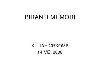 PIRANTI MEMORI