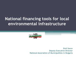 National financing tools for local environmental infrastructure