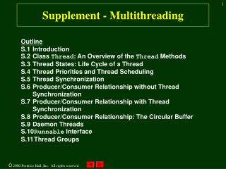Supplement - Multithreading