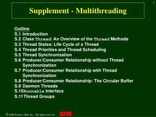 Supplement - Multithreading