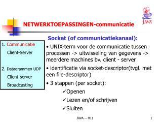 Socket (of communicatiekanaal):
