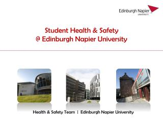 Student Health & Safety  @ Edinburgh Napier University