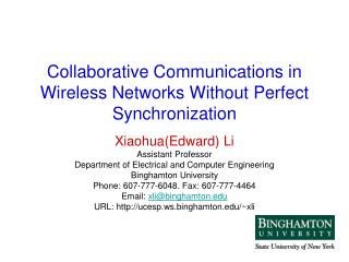Collaborative Communications in Wireless Networks Without Perfect Synchronization