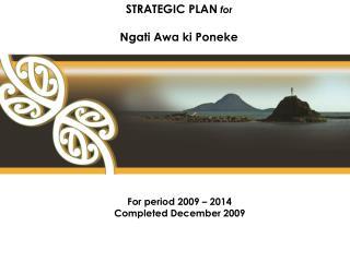 STRATEGIC PLAN for  Ngati Awa ki Poneke