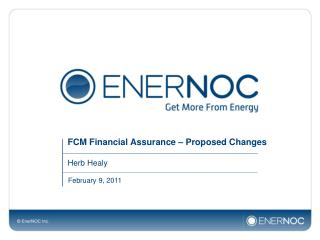 FCM Financial Assurance � Proposed Changes