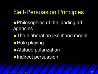 Self-Persuasion Principles