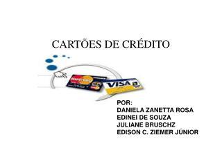 CART�ES DE CR�DITO