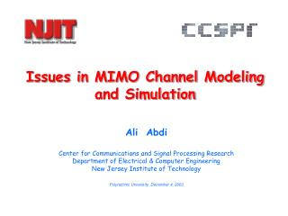 Issues in MIMO Channel Modeling  and Simulation