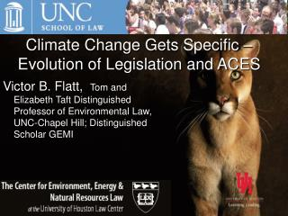 Climate Change Gets Specific – Evolution of Legislation and ACES