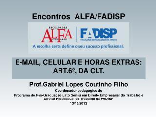 Encontros  ALFA/FADISP