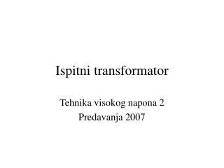 Ispitni transformator