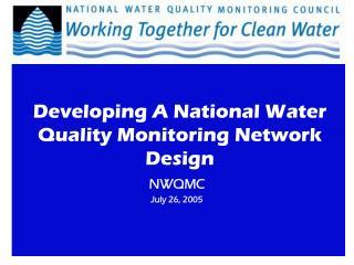 NWQMC July 26, 2005