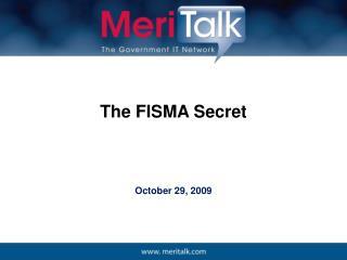 The FISMA Secret
