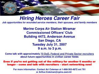 Hiring Heroes Career Fair