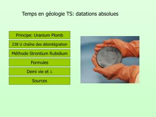 Temps en géologie TS: datations absolues