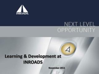 Learning & Development at INROADS November 2011