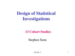 Design of Statistical Investigations