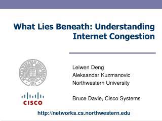What Lies Beneath: Understanding Internet Congestion