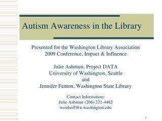 Autism Awareness in the Library