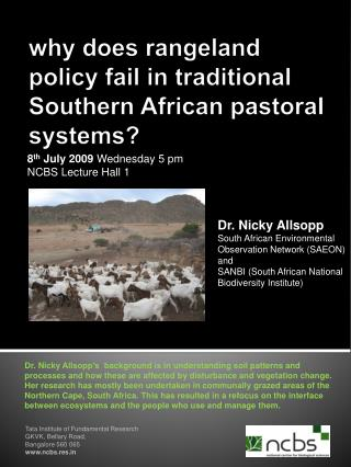 why does rangeland policy fail in traditional Southern African pastoral systems?