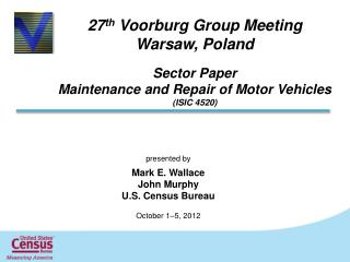 27 th  Voorburg Group Meeting  Warsaw, Poland Sector Paper