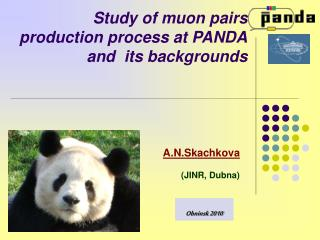Study of muon pairs  production process at PANDA and  its backgrounds